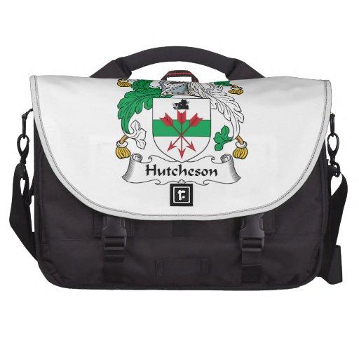 Escudo de la familia de Hutcheson Bolsas De Ordenador