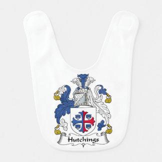 Escudo de la familia de Hutchings Baberos Para Bebé