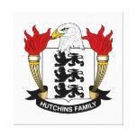 Escudo de la familia de Hutchins Impresion En Lona