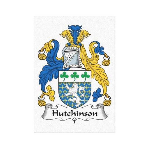 Escudo de la familia de Hutchinson Impresión En Lona