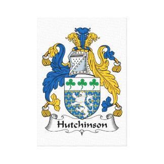 Escudo de la familia de Hutchinson Lona Estirada Galerías