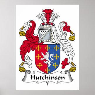 Escudo de la familia de Hutchinson Póster