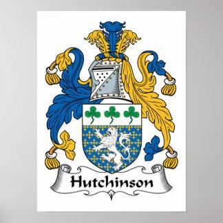 Escudo de la familia de Hutchinson Poster