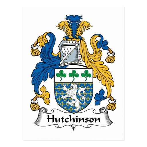 Escudo de la familia de Hutchinson Tarjeta Postal