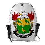 Escudo de la familia de Hutson Bolsas De Mensajeria