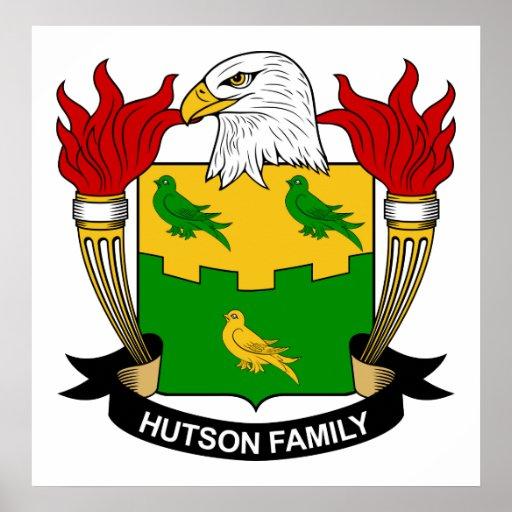 Escudo de la familia de Hutson Póster