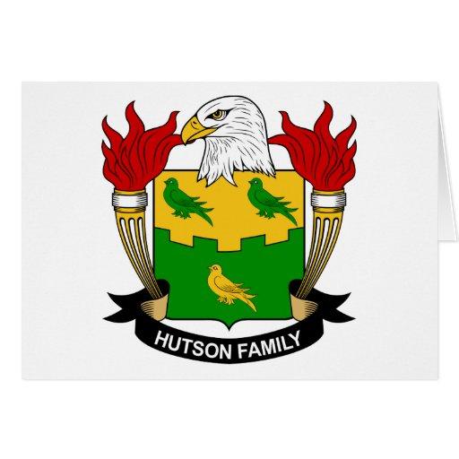 Escudo de la familia de Hutson Tarjetón