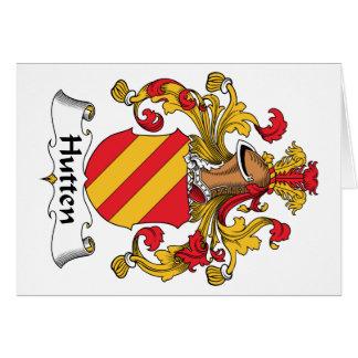 Escudo de la familia de Hutten Tarjeta De Felicitación