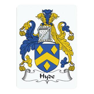 Escudo de la familia de Hyde Invitación 12,7 X 17,8 Cm