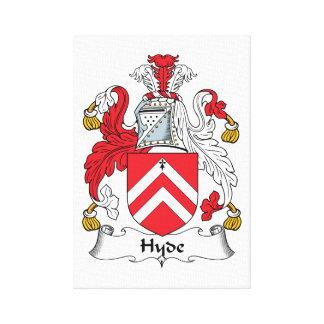 Escudo de la familia de Hyde Impresión En Lienzo Estirada