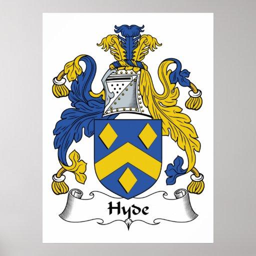 Escudo de la familia de Hyde Póster