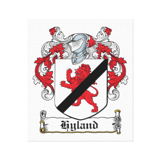 Escudo de la familia de Hyland Impresión De Lienzo