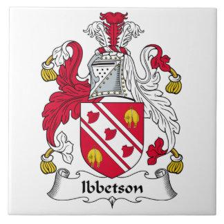 Escudo de la familia de Ibbetson Tejas Cerámicas