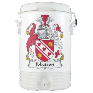 Escudo de la familia de Ibbetson Vaso Enfriador Igloo