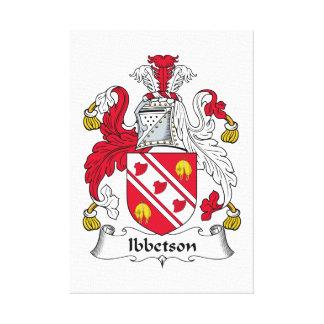 Escudo de la familia de Ibbetson Impresión En Lona Estirada