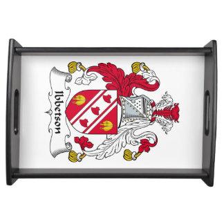 Escudo de la familia de Ibbetson Bandeja