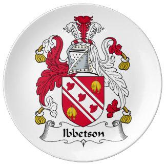 Escudo de la familia de Ibbetson Platos De Cerámica