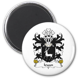 Escudo de la familia de Ieuan Imán Redondo 5 Cm