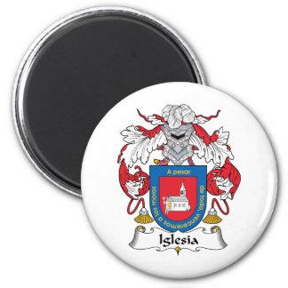 Escudo de la familia de Iglesia Imán Redondo 5 Cm