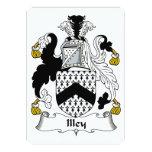 Escudo de la familia de Illey Invitación 12,7 X 17,8 Cm
