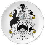Escudo de la familia de Illey Platos De Cerámica