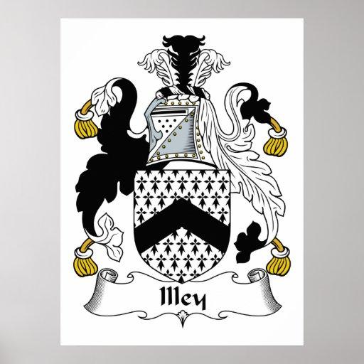 Escudo de la familia de Illey Posters