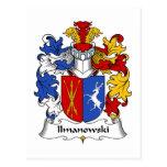 Escudo de la familia de Ilmanowski Postal