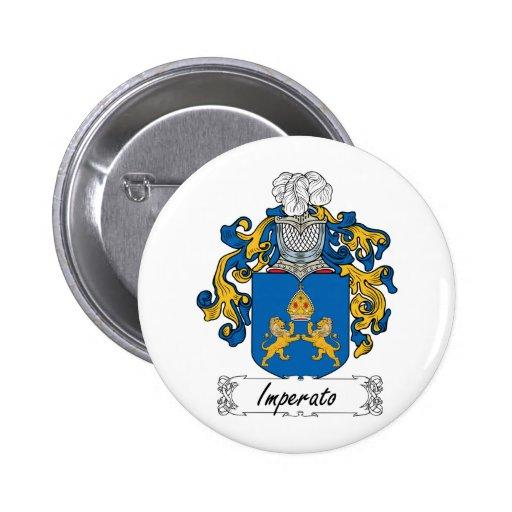 Escudo de la familia de Imperato Pin Redondo 5 Cm