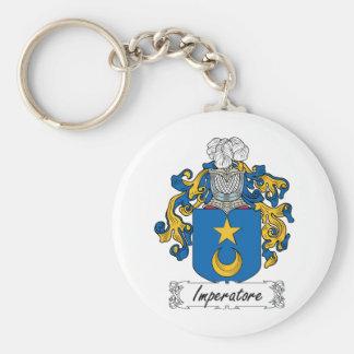 Escudo de la familia de Imperatore Llavero Redondo Tipo Pin