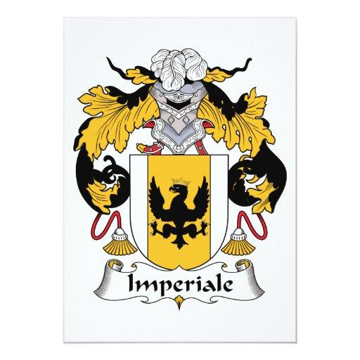 Escudo de la familia de Imperiale Invitación Personalizada