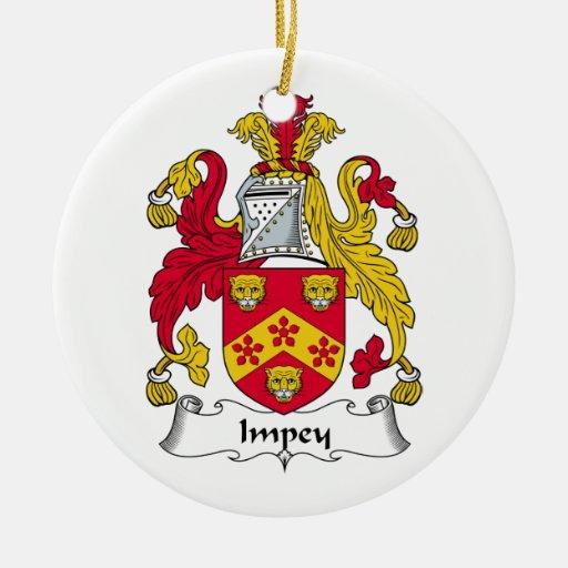 Escudo de la familia de Impey Adorno Redondo De Cerámica
