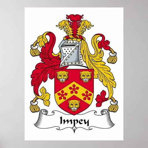 Escudo de la familia de Impey Impresiones