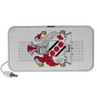 Escudo de la familia de Ince iPod Altavoces