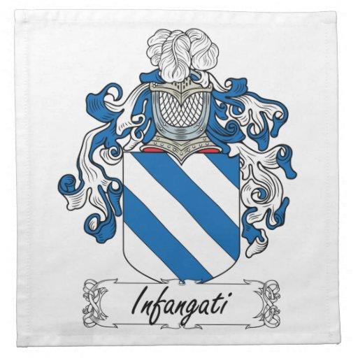 Escudo de la familia de Infangati Servilletas