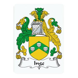 Escudo de la familia de Inge Invitación Personalizada