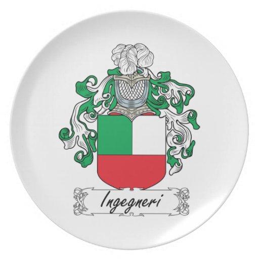 Escudo de la familia de Ingegneri Plato De Cena