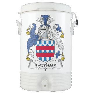 Escudo de la familia de Ingerham Enfriador De Bebida Igloo