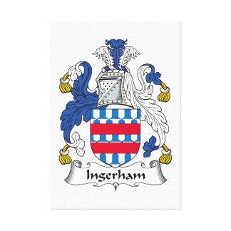 Escudo de la familia de Ingerham Impresiones En Lienzo Estiradas