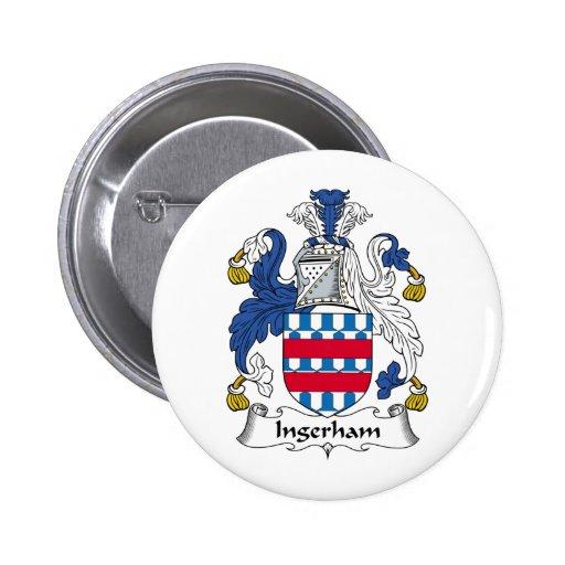 Escudo de la familia de Ingerham Pin Redondo 5 Cm