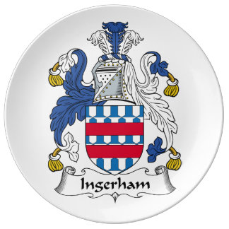Escudo de la familia de Ingerham Platos De Cerámica
