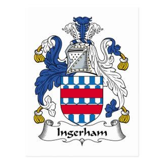 Escudo de la familia de Ingerham Postales