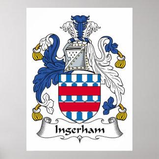 Escudo de la familia de Ingerham Posters