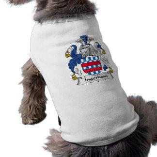 Escudo de la familia de Ingerham Camiseta De Mascota