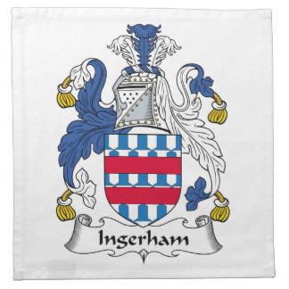 Escudo de la familia de Ingerham Servilleta Imprimida
