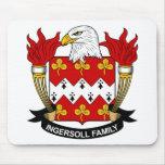 Escudo de la familia de Ingersoll Alfombrilla De Ratones