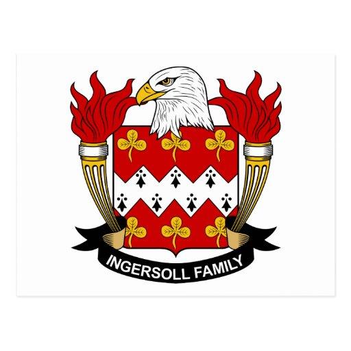 Escudo de la familia de Ingersoll Tarjetas Postales