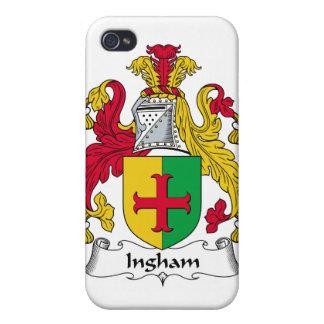 Escudo de la familia de Ingham iPhone 4 Protectores