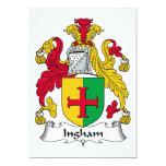 Escudo de la familia de Ingham Invitación 12,7 X 17,8 Cm