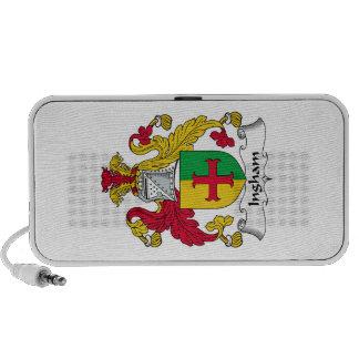 Escudo de la familia de Ingham iPod Altavoz