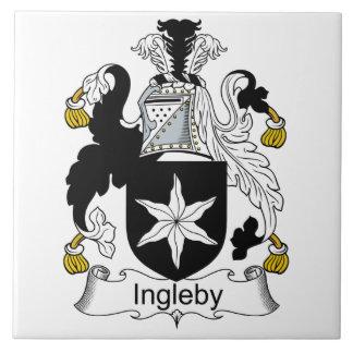 Escudo de la familia de Ingleby Azulejo Cuadrado Grande